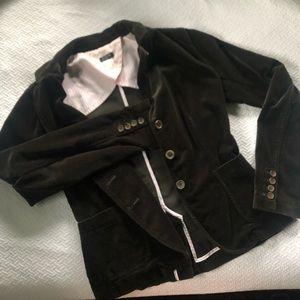 Excellent condition J. Crew 3 button velvet blazer